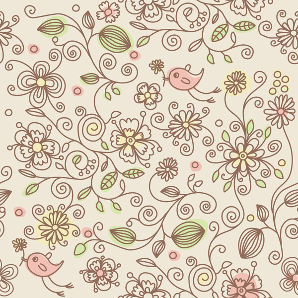 free vector Lovely background pattern vector