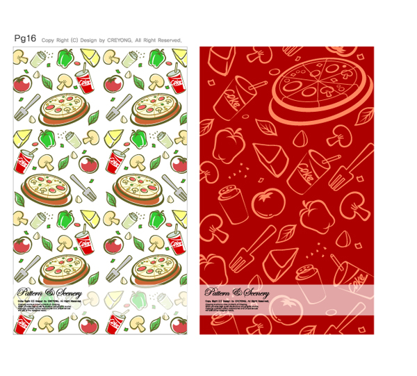 free vector Lovely background series vector material 3