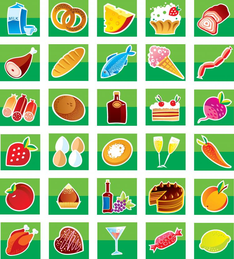 Lovely breakfast food icon vector Free Vector / 4Vector
