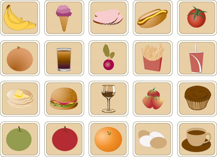 free vector Lovely breakfast food icon vector