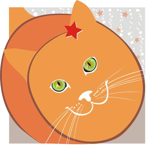 free vector Lovely cat vector illustration material