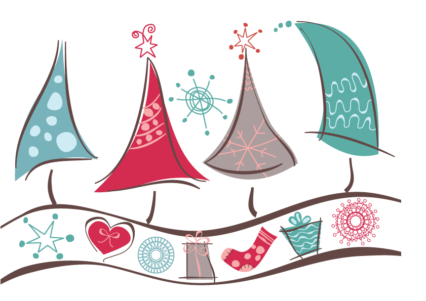 free vector Lovely christmas background vector graphic