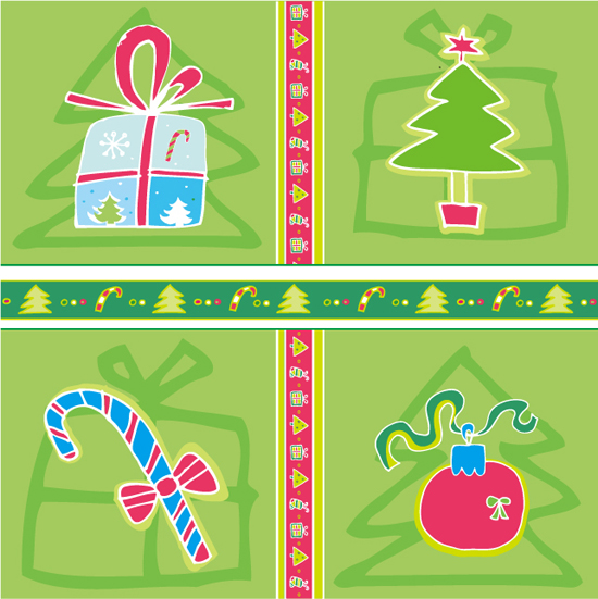 free vector Lovely christmas decoration element vector