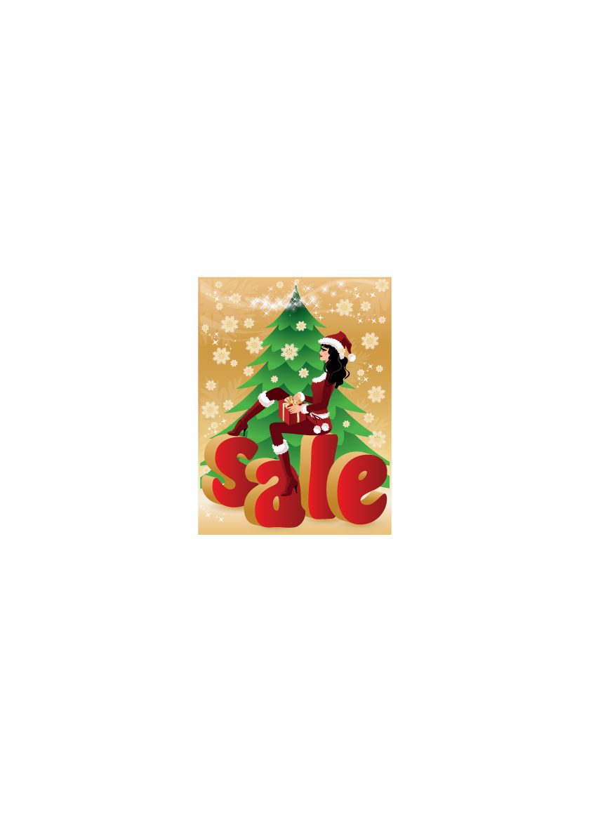 free vector Lovely christmas discount sales vector