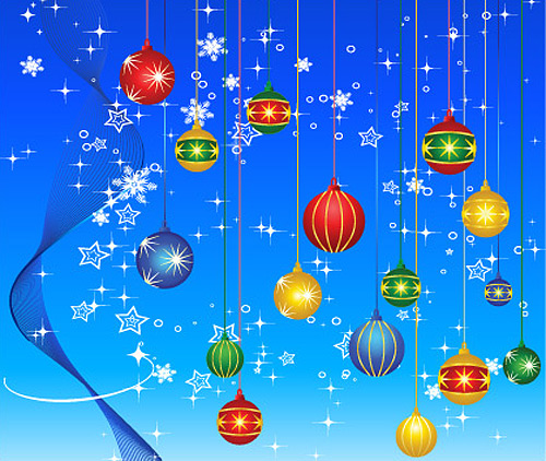 free vector Lovely christmas element vector and background