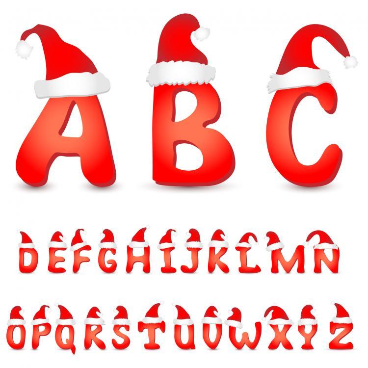 free vector Lovely christmas letter 02 vector