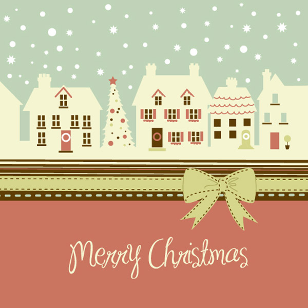 free vector Lovely christmas theme vector
