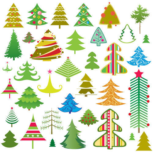 free vector Lovely christmas tree vector