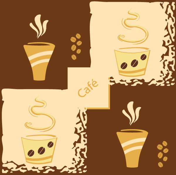 free vector Lovely coffee theme vector 1