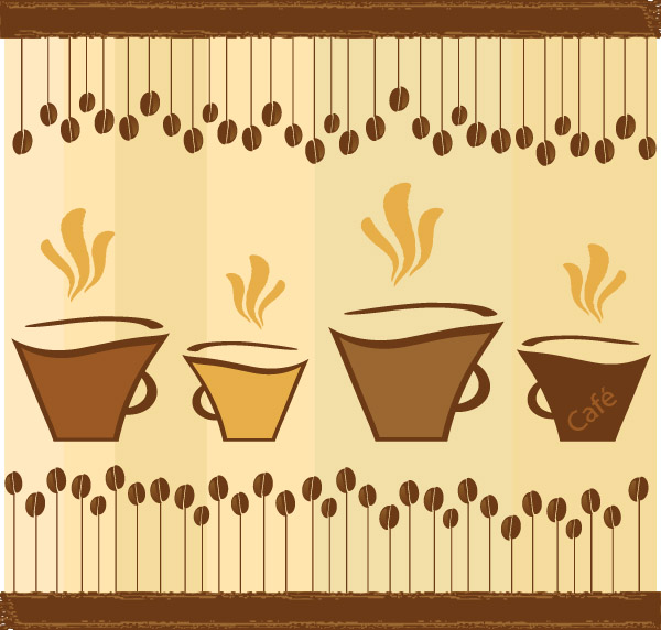 free vector Lovely coffee theme vector 2