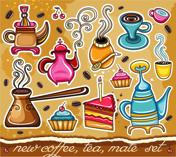 free vector Lovely coffee vector