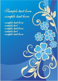 free vector Lovely flower design pattern vector material