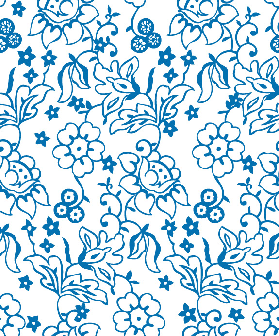 Lovely flower pattern background lines (20876) Free AI