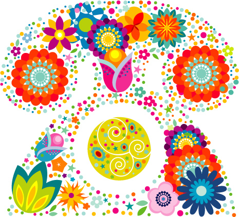 free vector Lovely flower pattern Vector
