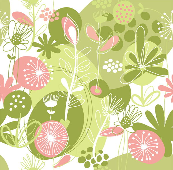 free vector Lovely flowers and plant vector