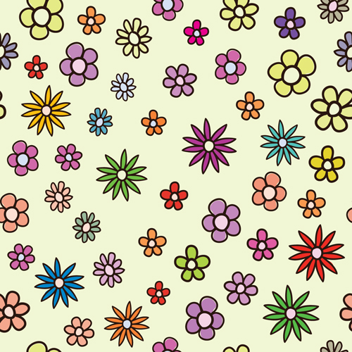 free vector Lovely flowers vector background 1