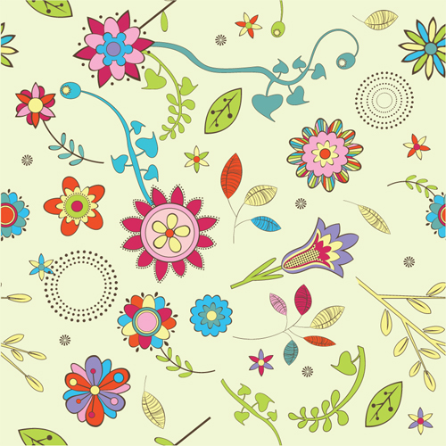 free vector Lovely flowers vector background 3