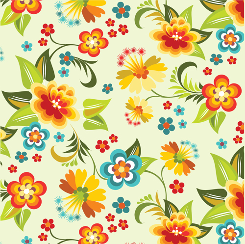 free vector Lovely flowers vector background 4