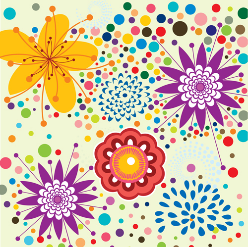 free vector Lovely flowers vector background 5