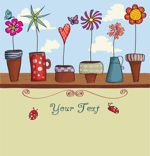 free vector Lovely flowers vector
