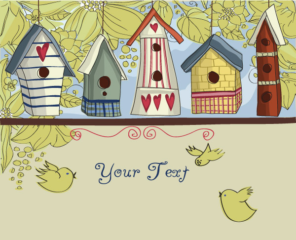 free vector Lovely house vector