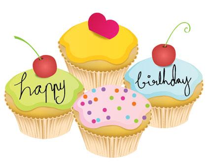 free vector Lovely Little Birthday Cake Vector