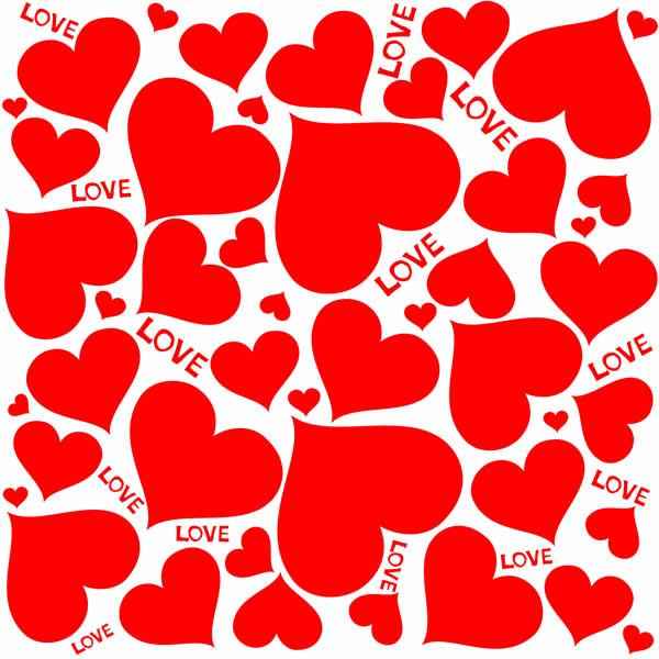 free vector Lovely romantic heartshaped vector