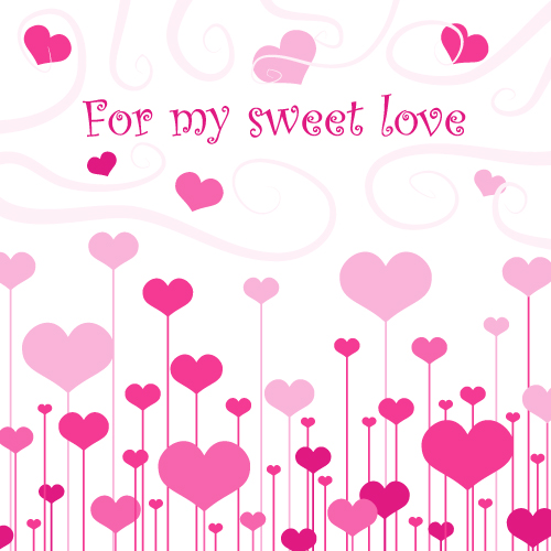 lovely romantic valentine day greeting card vector free