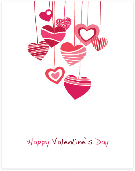 Lovely romantic valentine day greeting card vector Free Vector ...