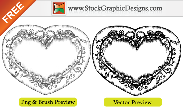 free vector Lovely Sketchy Hand Drawn Heart Free Vector Illustration