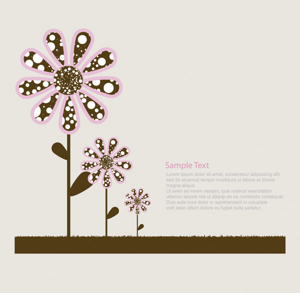 free vector Lovely trees vector flowers