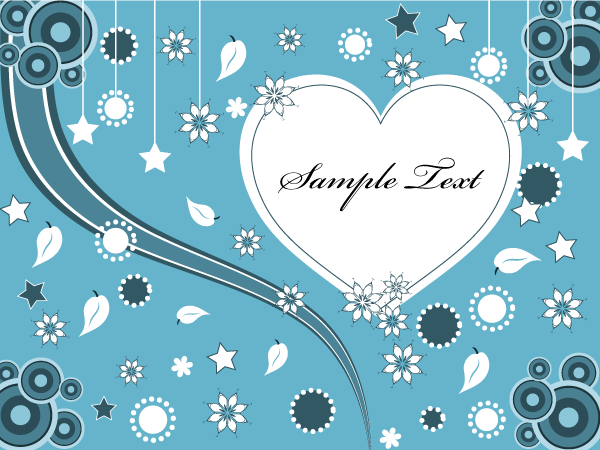 free vector Lovely Valentine Greeting Card Vector