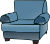 free vector Loveseat clip art