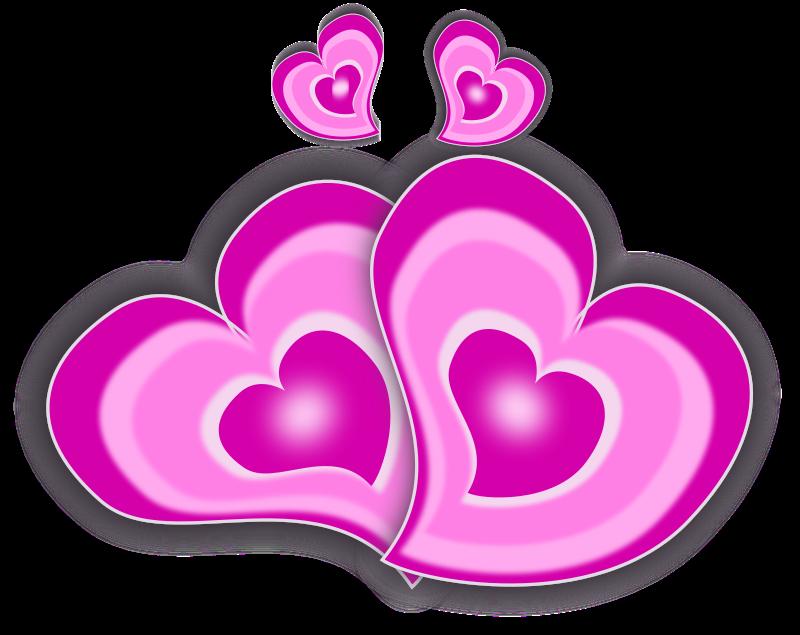 free vector Loving Hearts