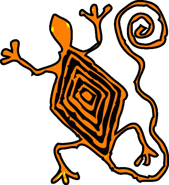 free vector Lucertola Maya clip art