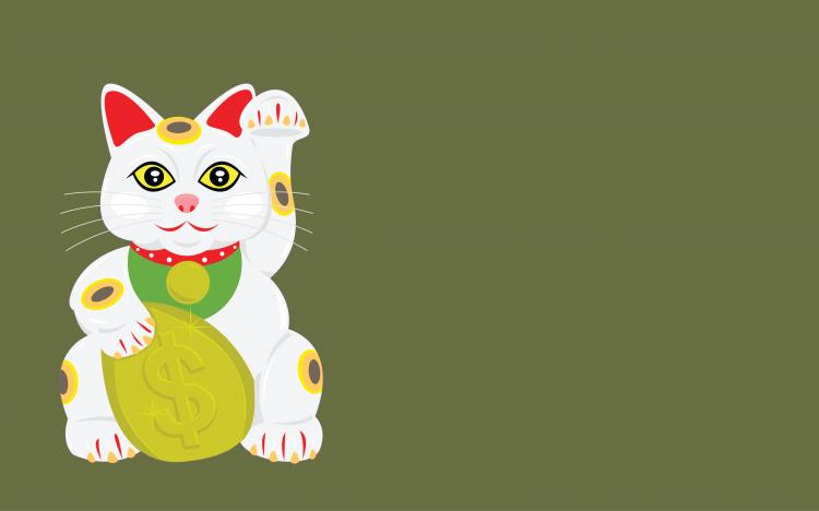 free vector Lucky Cat Vector Wallpaper