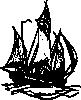 free vector Lugger Ship clip art