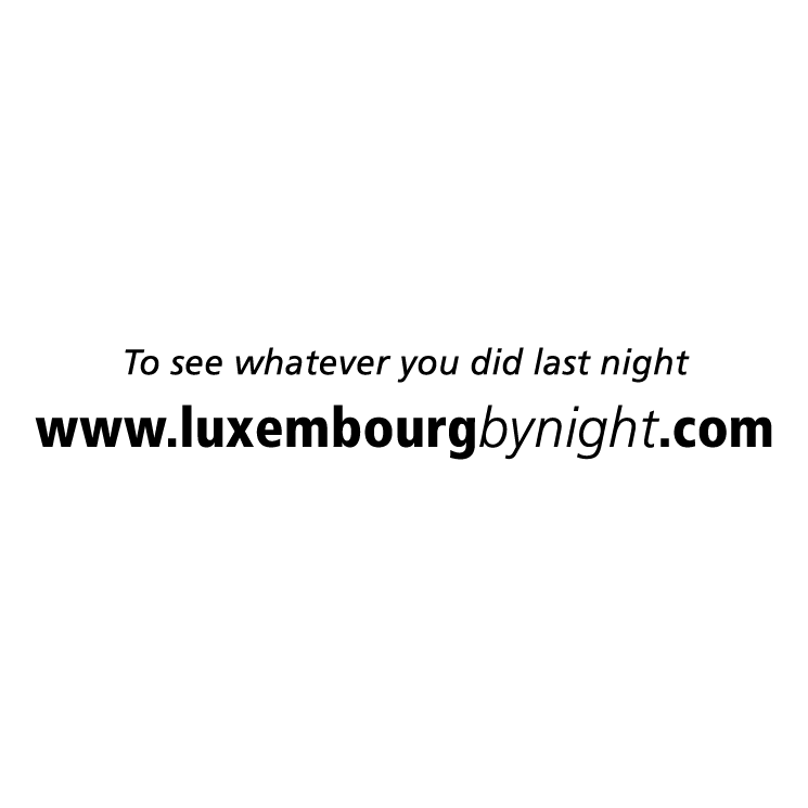 free vector Luxembourg by night
