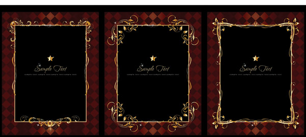 free vector Luxuriant Gold Lace Vector Of Material Luxuriant