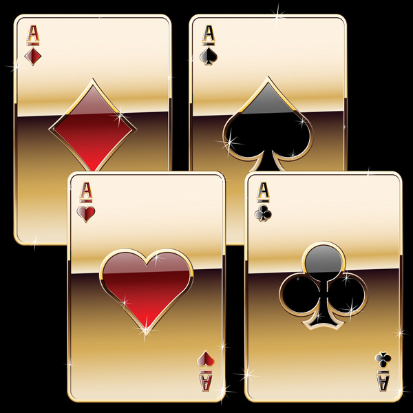 free vector Luxury poker clip art
