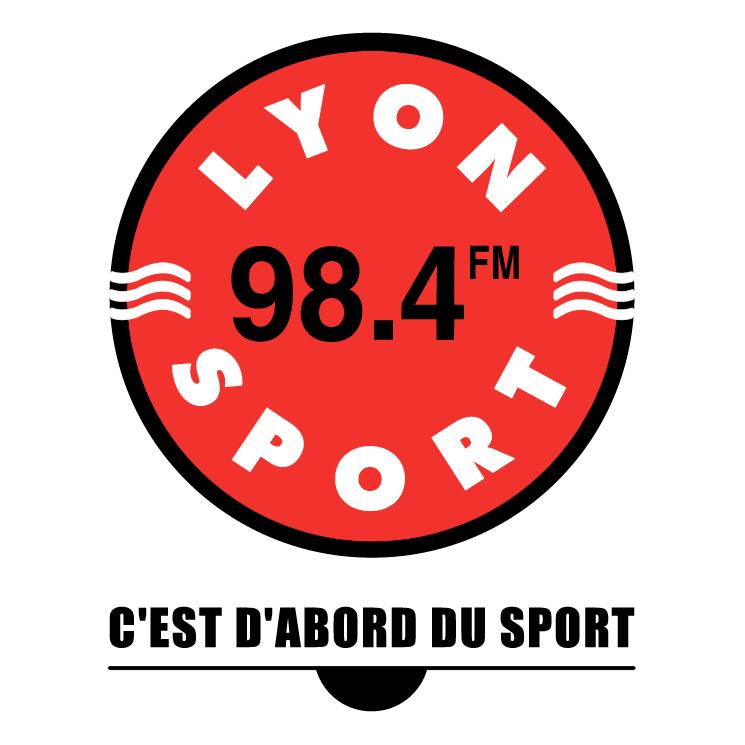 free vector Lyon sport 984 fm