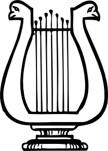 free vector Lyre Instrument clip art
