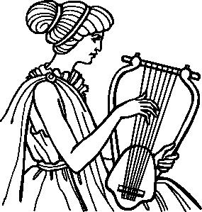 free vector Lyre Musical Instrument clip art