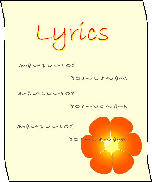 free vector Lyrics clip art