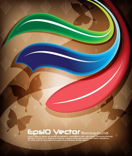 free vector M arrow background vector