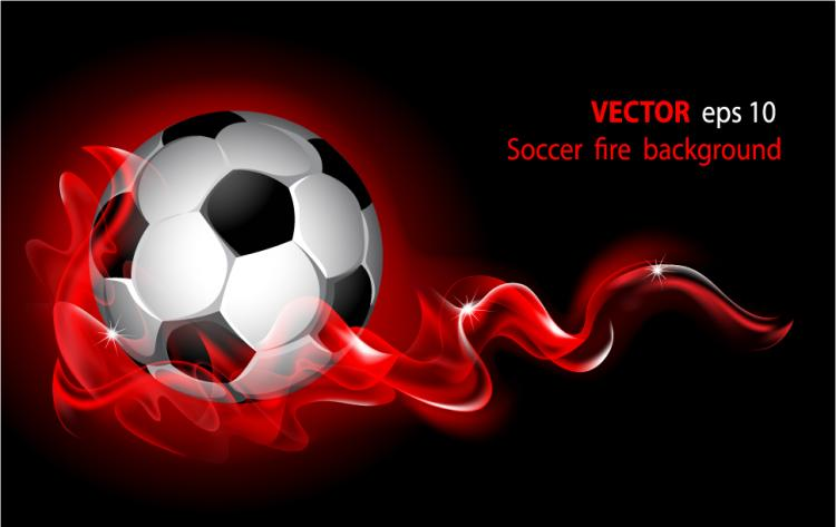 free vector M soccer vector