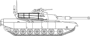 free vector M1 Abrams Main Battle Tank clip art