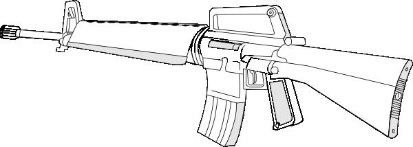free vector M16 Gun Fire Arms Weapon clip art