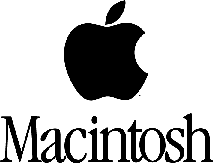 Macintosh logo Free Vector / 4Vector