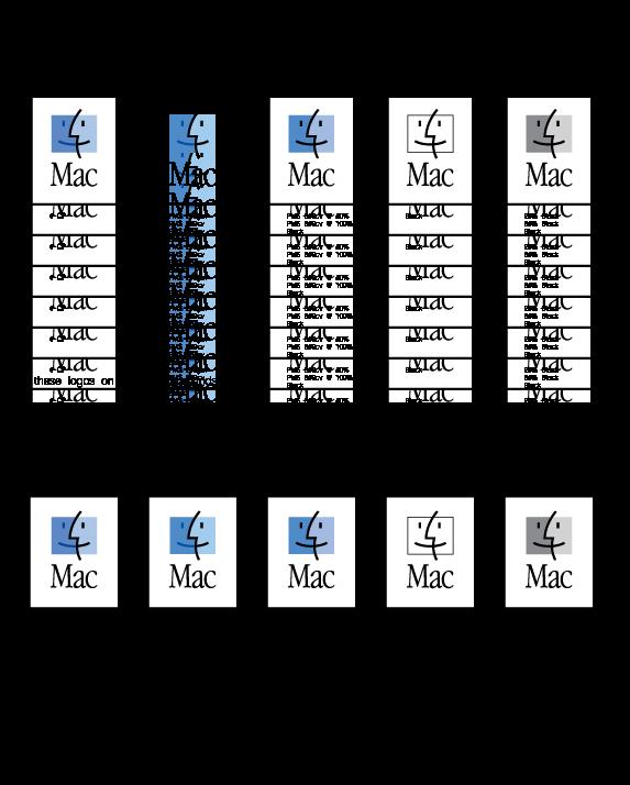free vector MacOS vr logos guideline